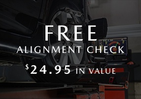 FREE Alignment Check <br> A $24.95 Value!